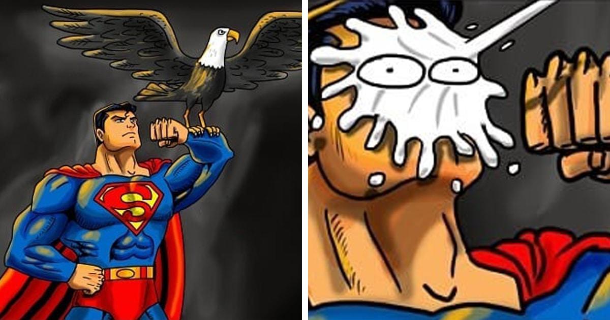 Бразильский художник рисует комиксы о том, чем занимаются супергерои в обычной жизни. Они те ещё хулиганы!