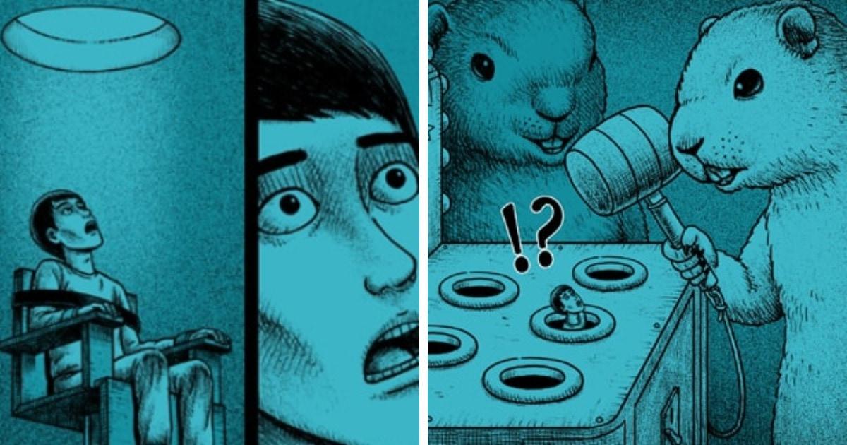 15 жутковатых комикс-историй, которые начинаются мило, но неожиданный поворот событий доводит до мурашек