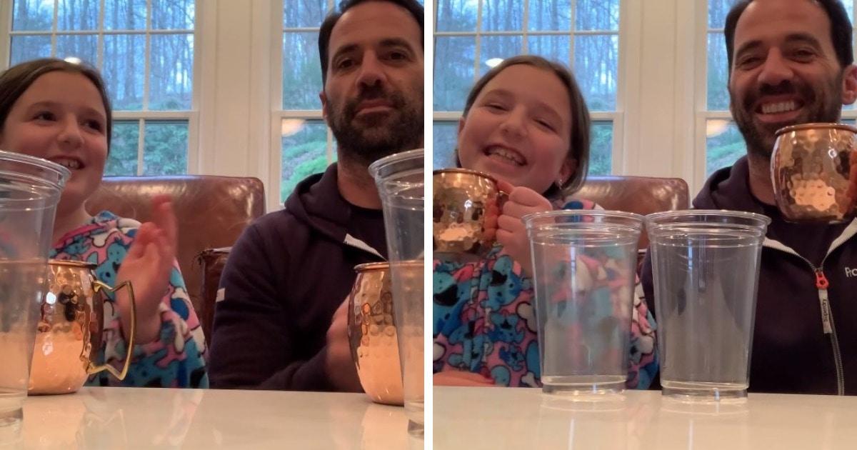 Отец пообещал дочери $100, если та повторит его действия. Она согласилась, не зная, что он задумал коварство