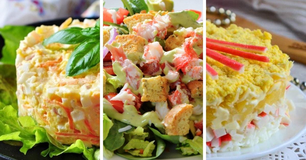 10 самых вкусных салатов с крабовыми палочками