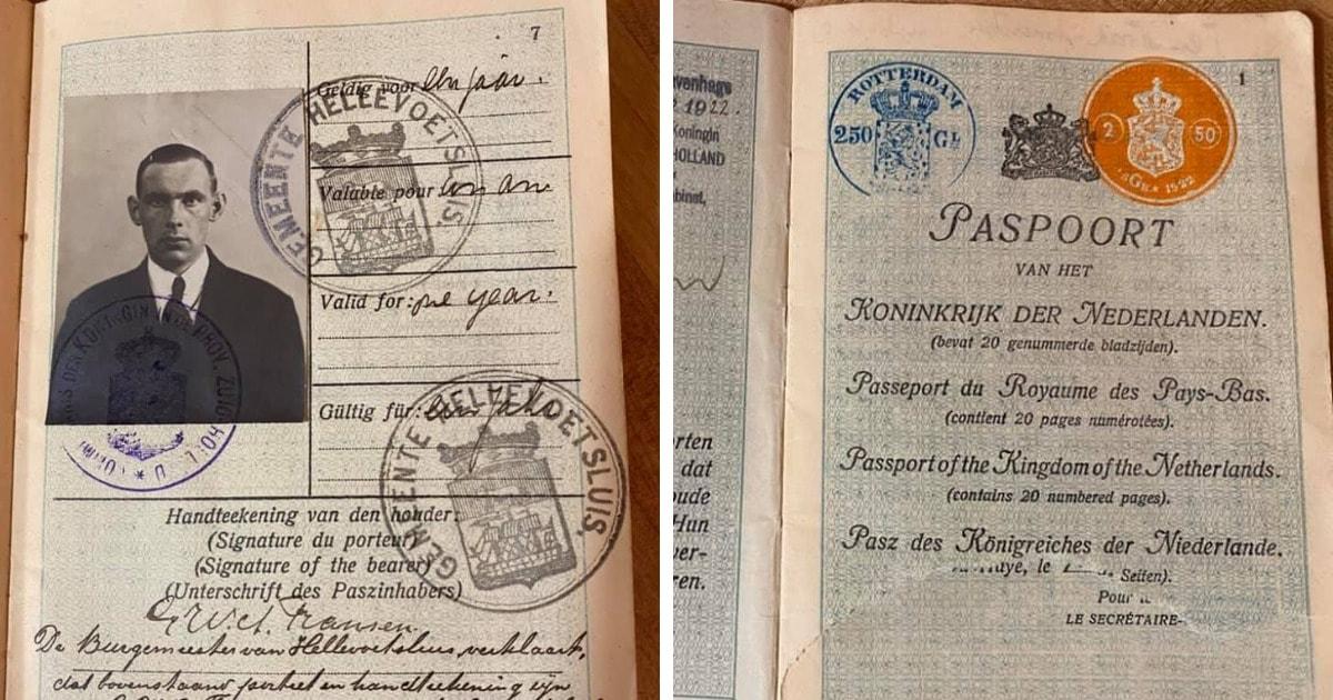Как выглядел европейский паспорт 100 лет назад? Женщина получила документы прадеда и решила их перевести