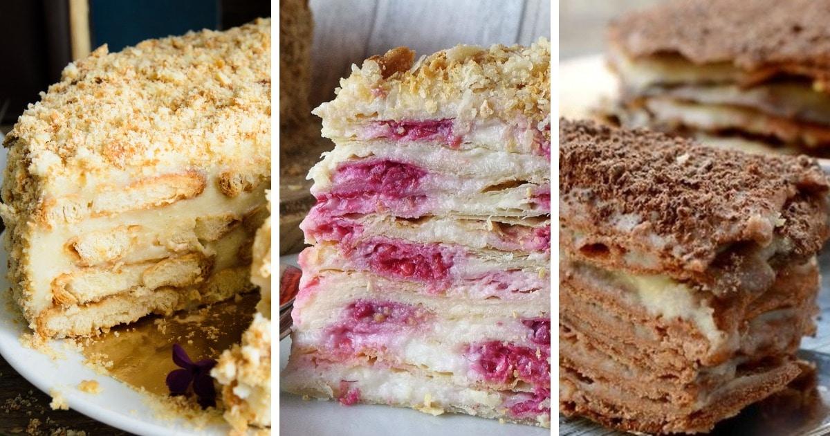 10 очень вкусных и самых простых рецептов торта «Наполеон»
