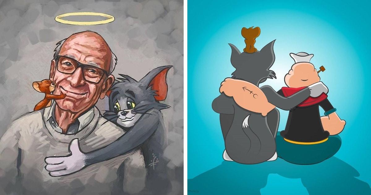 16 иллюстраций в память о Джине Дейтче — режиссёре «Тома и Джерри» и «Моряка Попая», который умер в 95 лет