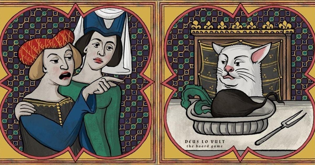 Неверный парень и женщины, кричащие на кота: художники показали, как выглядели бы мемы в Средневековье