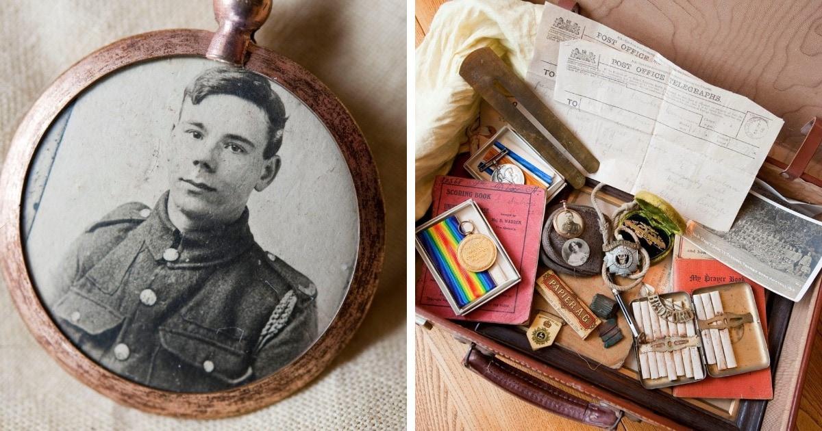 Семья не трогала чемодан солдата с 1916 года, а потом открыла его, показав, что хранилось там почти 100 лет
