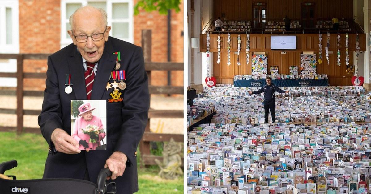 Великобритания отмечает 100-летний юбилей ветерана, собравшего £30 млн врачам. Ему прислали 125 тысяч открыток