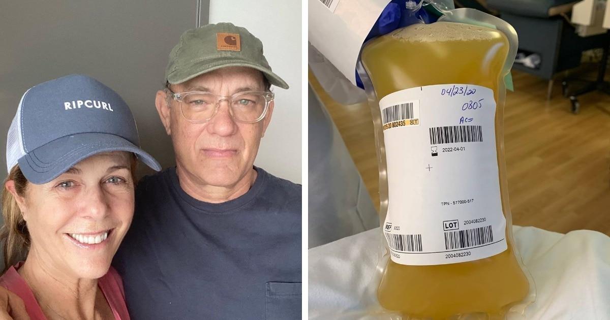 Том Хэнкс с женой выздоровели от COVID-19 и стали донорами плазмы крови. В сети шутят, что это спасёт весь мир