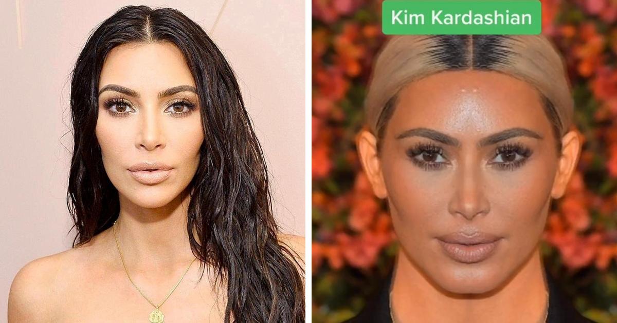 Дерматолог показал, как выглядели бы известные люди, если бы их лица были абсолютно симметричными