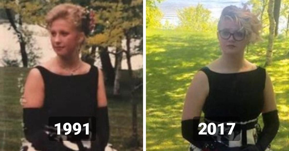 Девушка показала своё выпускное платье, а оно из 60-х. Его носила ещё её бабушка, но так сразу и не скажешь!