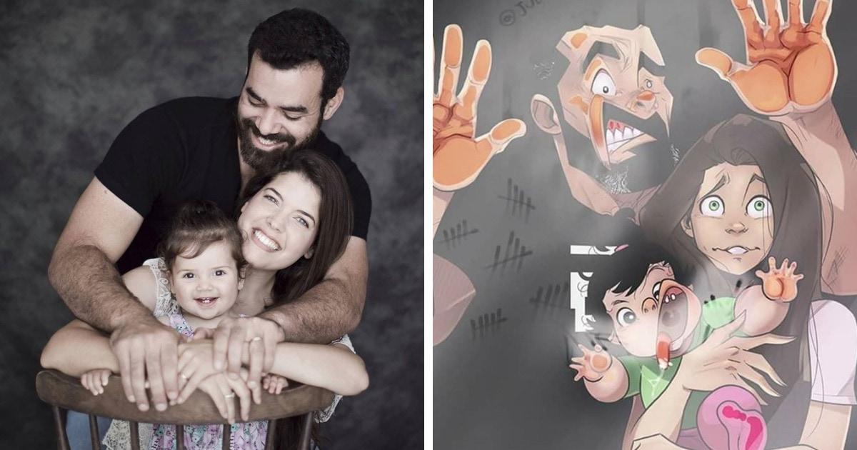 Израильский художник показал, как выглядит его дочка, которая после рождения тоже стала героиней его комиксов