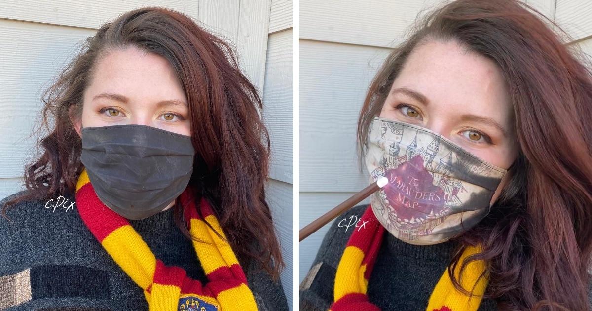Американка создала маску для фанатов Гарри Поттера — в ней есть секрет, который можно увидеть лишь при дыхании