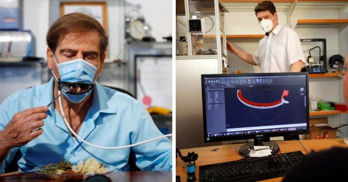 Израильская компания разработала медицинскую маску, в которой можно есть. И она работает автоматически