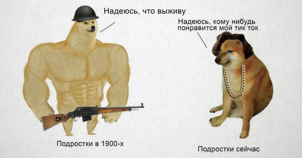 Качок Доге и Чимс: новый мем про разницу поколений, забавно демонстрирующий то, что времена меняются
