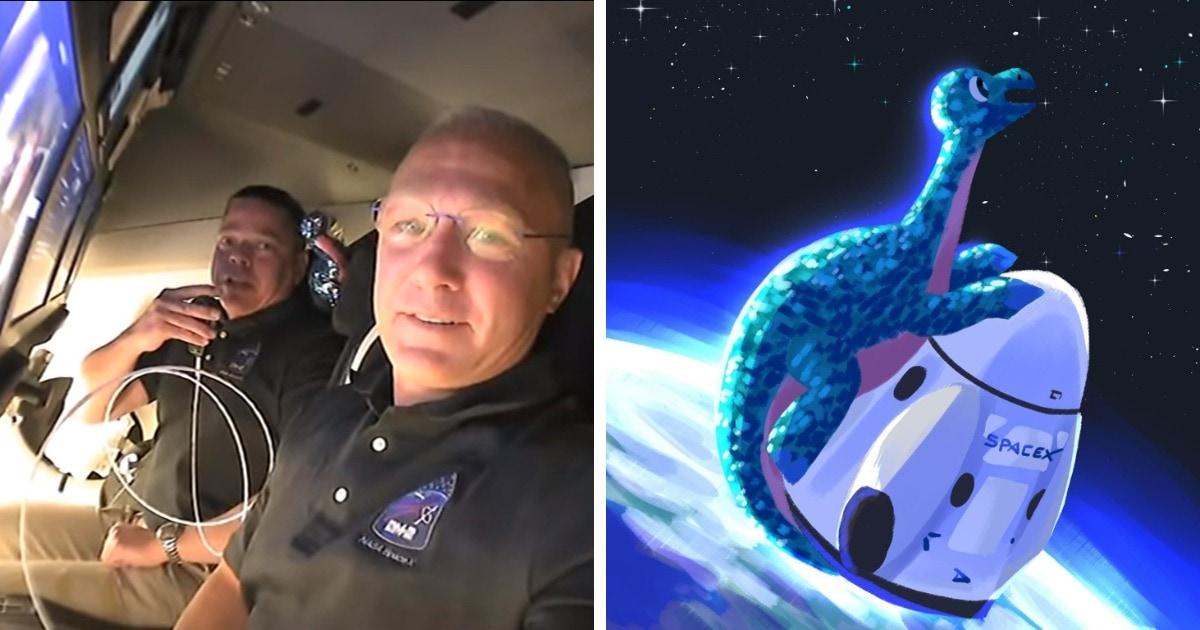 Экипаж корабля, запущенного компанией SpaceX, взял в космос плюшевого динозавра. И теперь такого хотят все