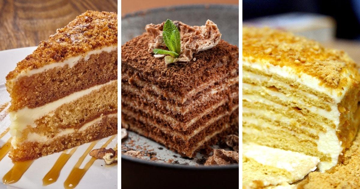 10 самых простых рецептов очень вкусного торта «Медовик»