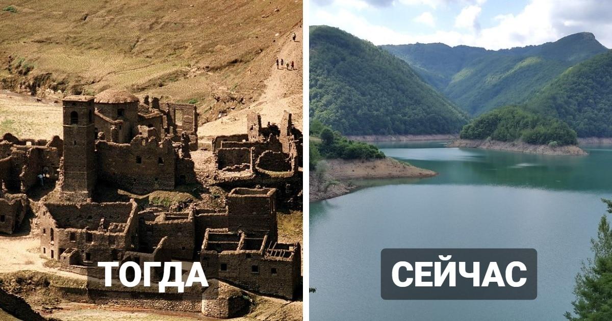 Средневековая деревня в Италии долгое время была под водой. Её хотят показать туристам, осушив озеро