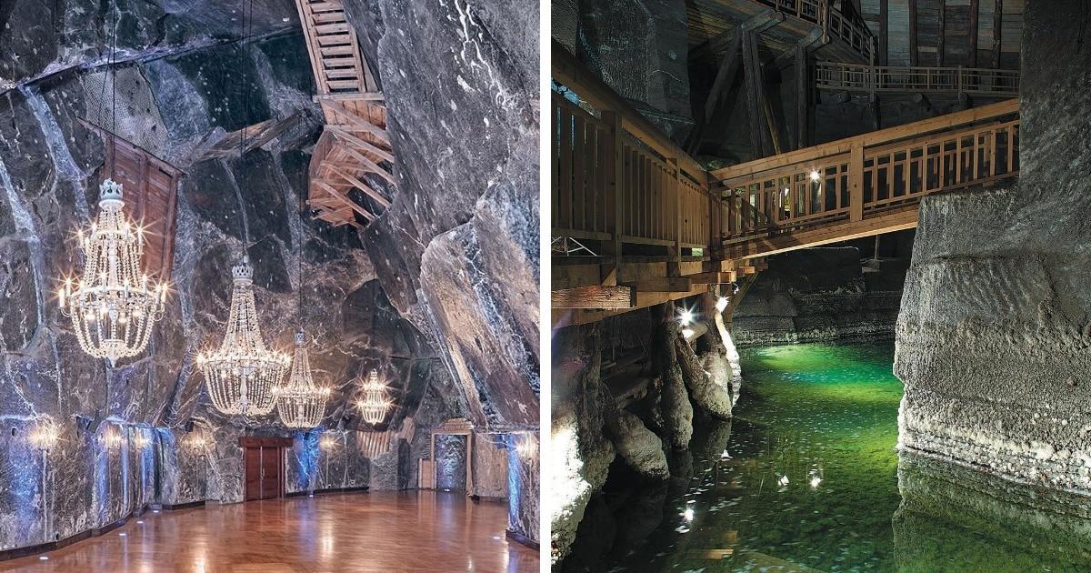 В Польше существует уникальная соляная шахта 13 века с подземными озёрами. Снимки оттуда выглядят нереально!