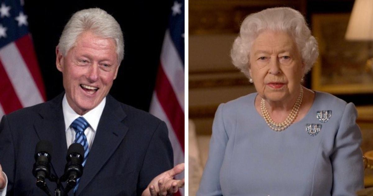 Британец прославился в сети тем, что оказался похож на Билла Клинтона и королеву Елизавету II. Одновременно