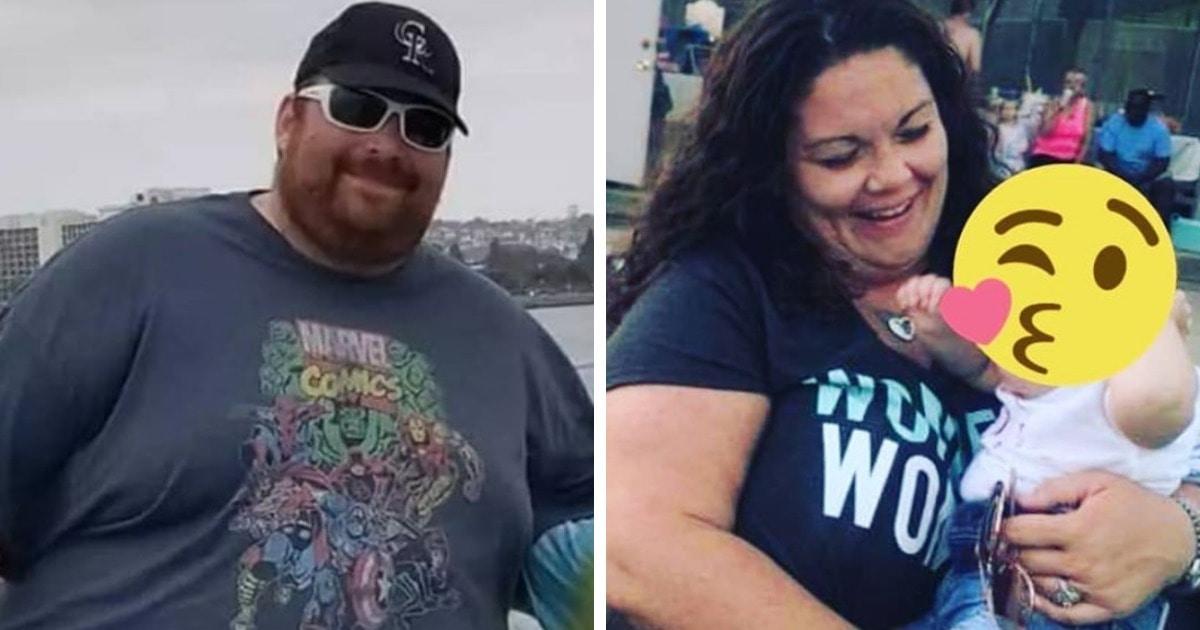 Мужчина начал худеть и вдохновил жену присоединиться. Паре удалось потерять около 136 кг на двоих
