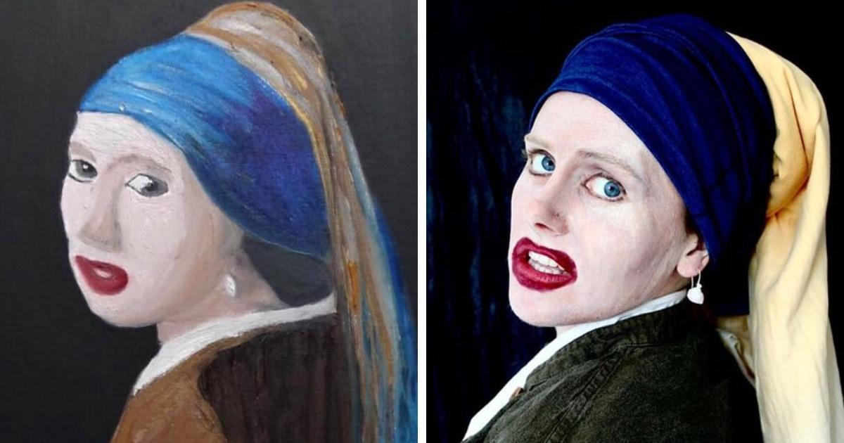 Пользователи сети вывели копирование картин на новый уровень: теперь они косплеят трешовое искусство