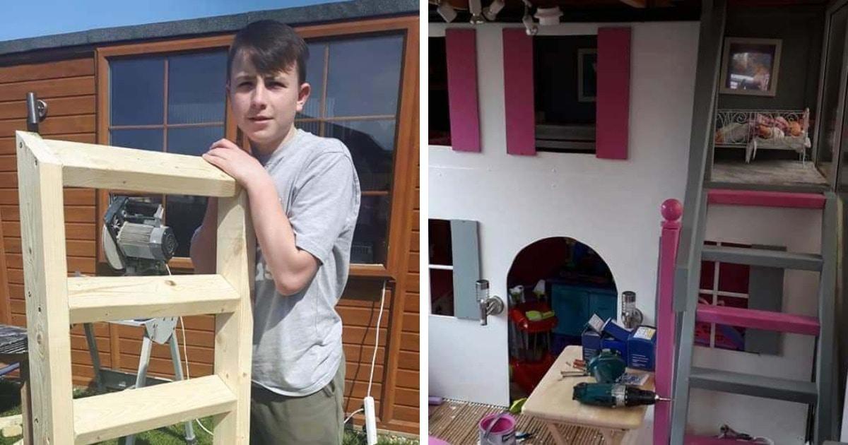 Отец хотел оторвать сына от приставки и поручил построить домик для сестры. Теперь парню предлагают работу