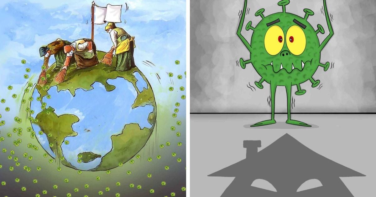 В Китае прошёл первый международный конкурс карикатур на тему коронавируса. Россиянин получил бронзу