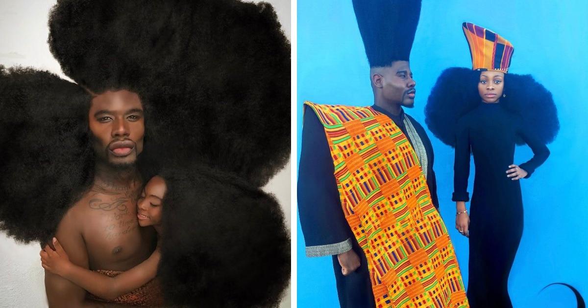 Отец и дочь покоряют Инстаграм своими шикарными волосами и модельными снимками. И люди очарованы их красотой