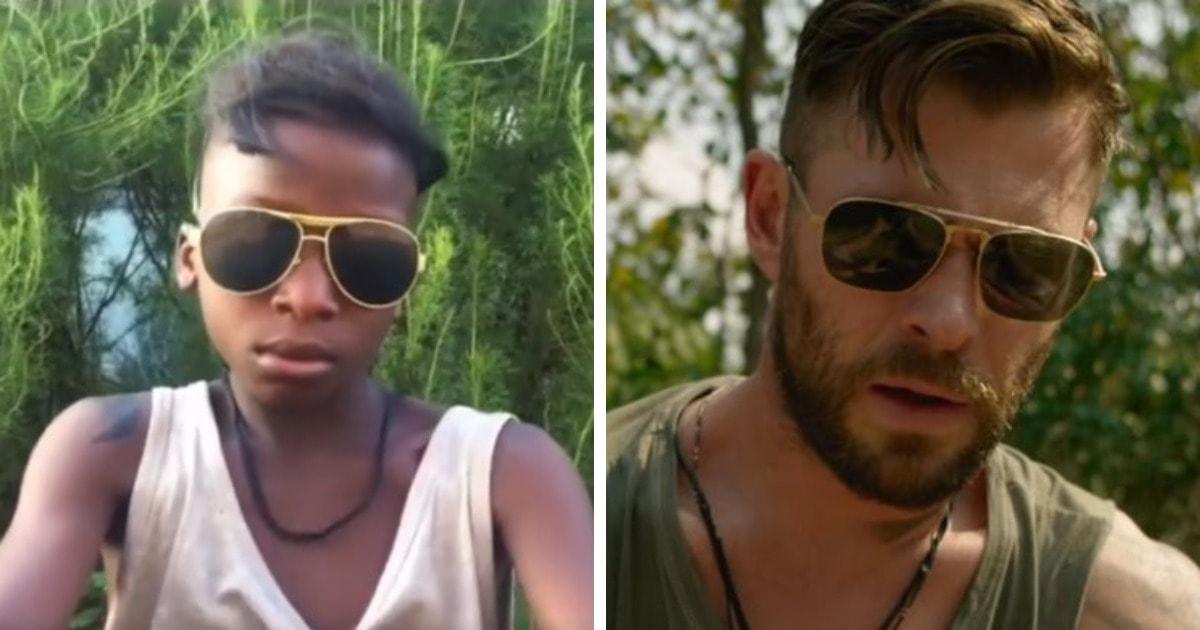Дети из Нигерии пересняли трейлер боевика с Крисом Хемсвортом. Получилось так круто, что их оценил сам актёр
