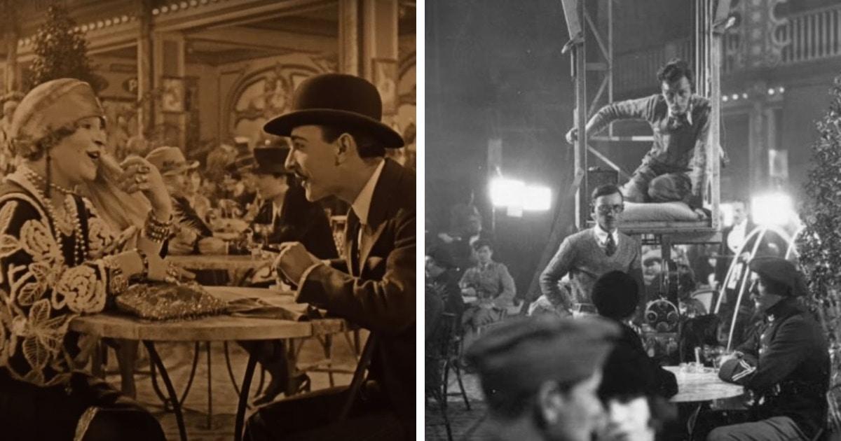 В сети вспомнили сцену из фильма 1927 года, снятую слишком круто для своего времени. Люди гадают, в чём секрет