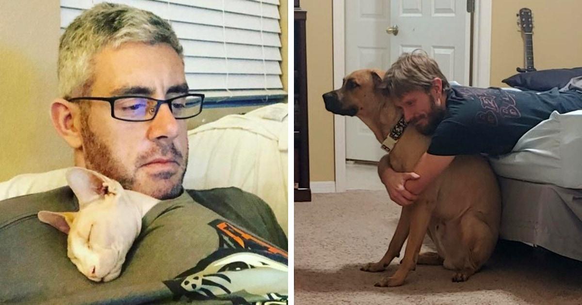 20 мужчин, которые не хотели видеть никаких животных в доме, а теперь любят их больше, чем собственных детей