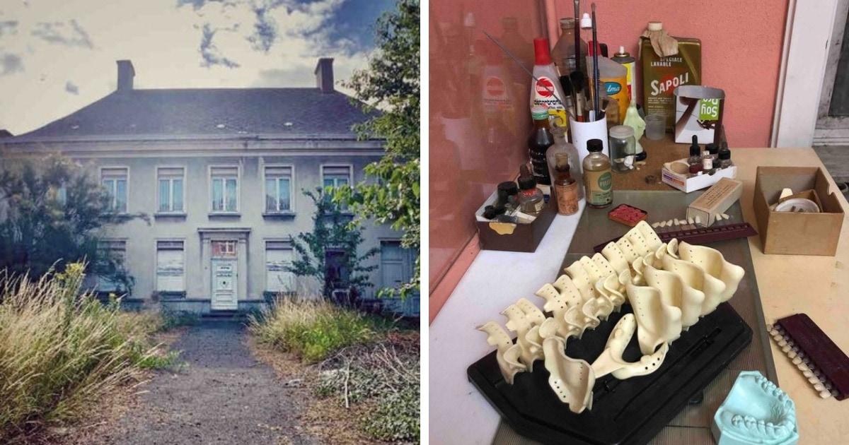Фотограф попал в заброшенный дом, в котором жил и работал стоматолог, и показал, что там после него осталось