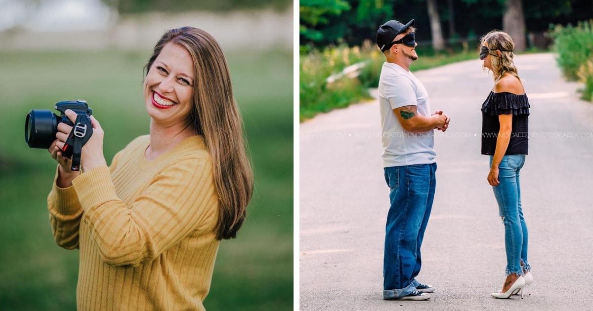Фотограф показала, как будет выглядеть романтическая съёмка, если вместо парочки в ней будут незнакомцы