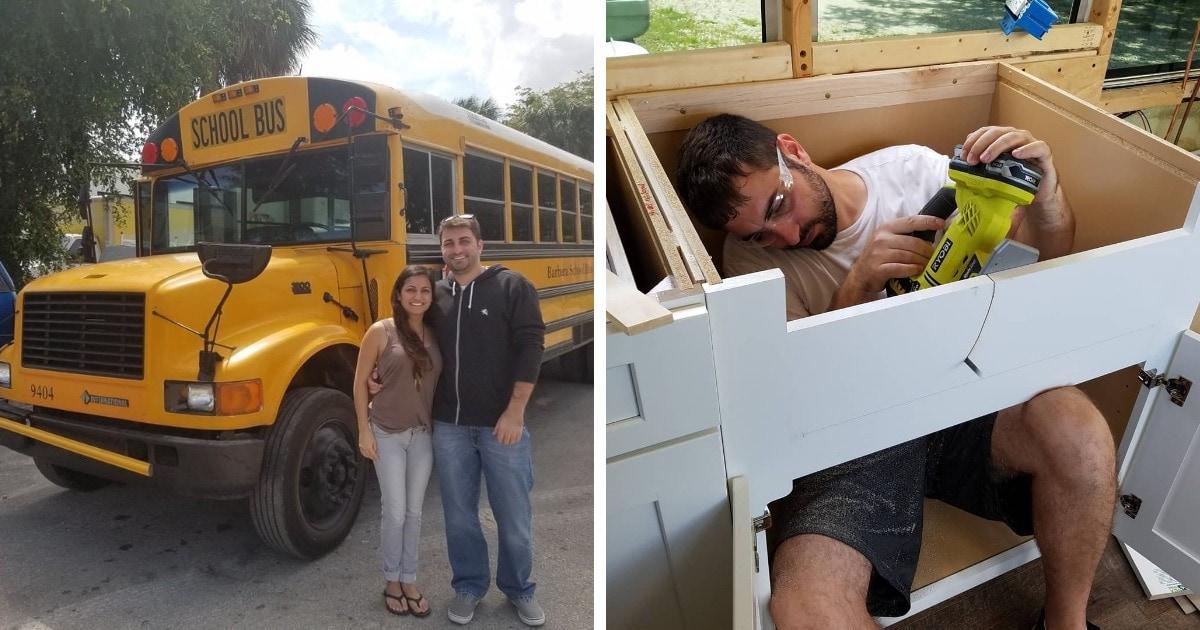 Пара переделала старый школьный автобус, сделав из него дом на колёсах. И в таком хочется путешествовать вечно