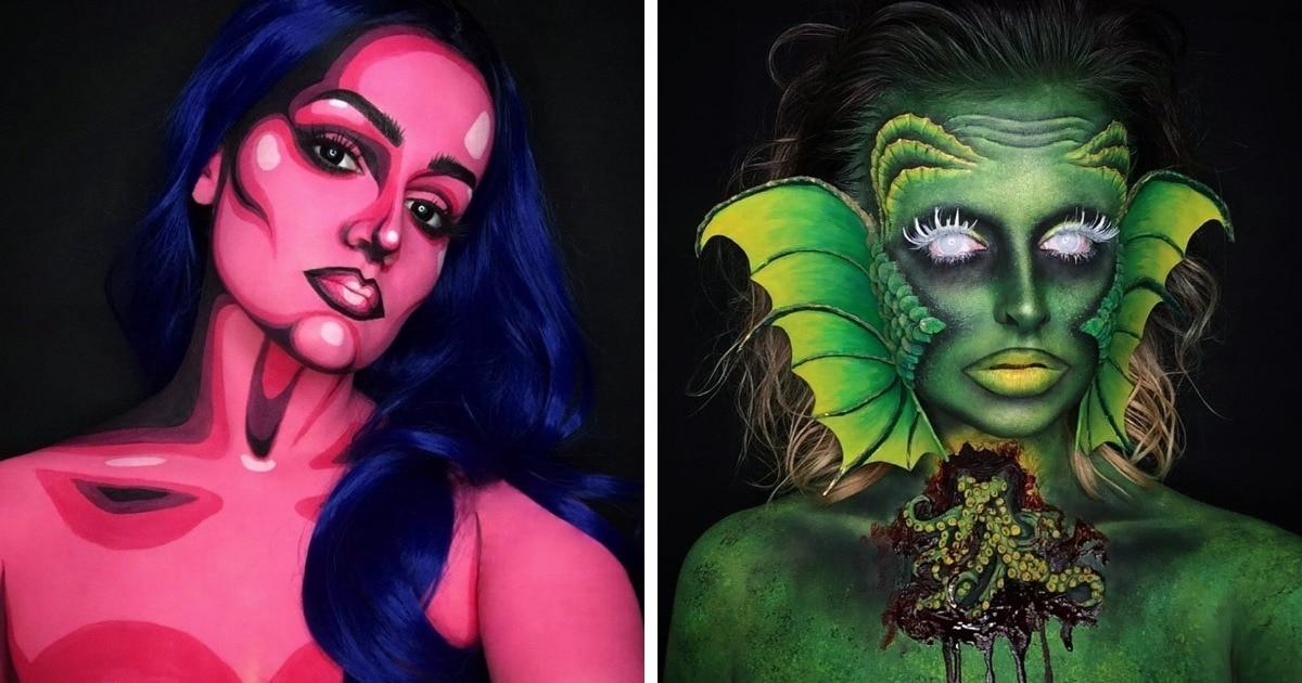20 работ от девушки, которая мастерски овладела бодиартом и создаёт невероятно реалистичные образы