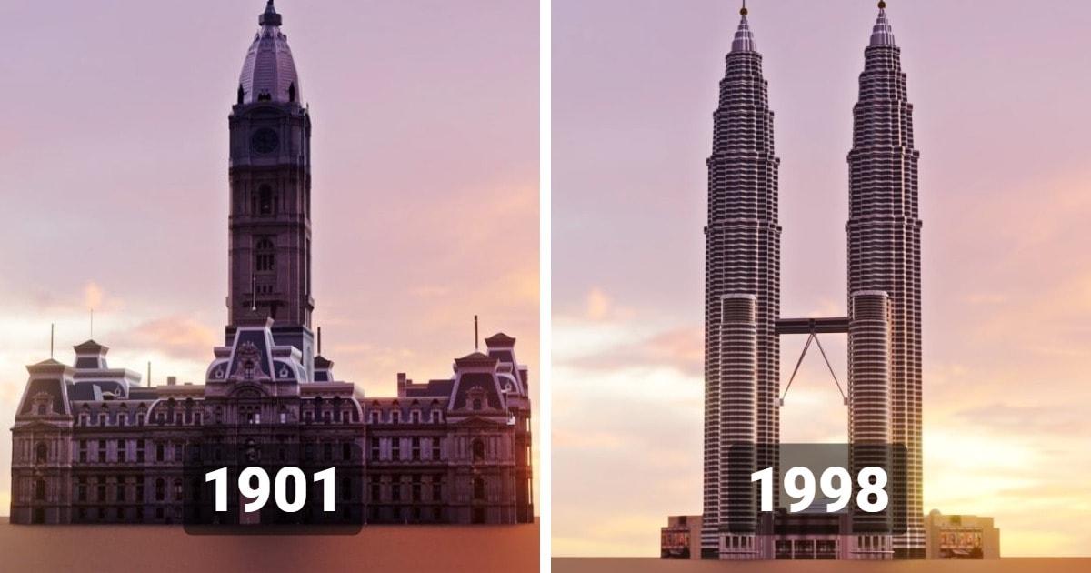 Эволюция небоскрёбов: как выглядело самое высокое здание в мире в 1901 году и какое будет высочайшим в 2022?