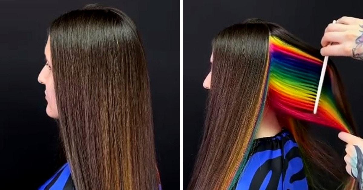 «Как тортик разрезаешь»: парикмахер из Питера делает яркие окрашивания, которые можно оставить в секрете