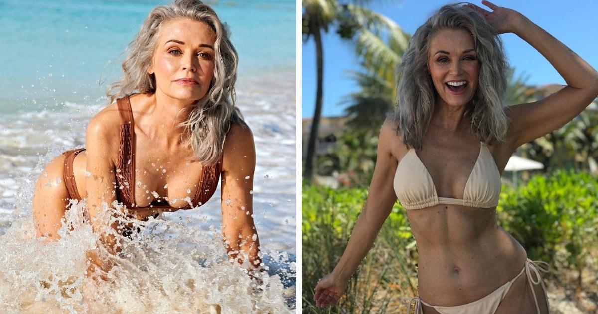 Модель вышла в финал конкурса в купальниках, попала на обложку и сразила всех своей фигурой. А ведь ей 56 лет!
