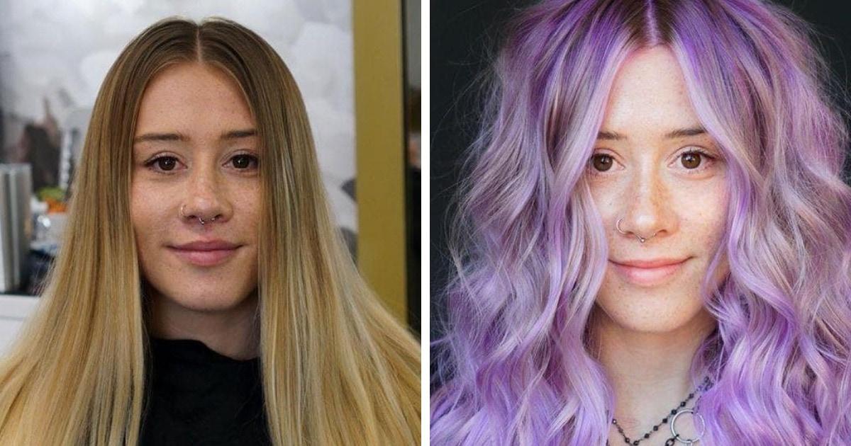 20 девушек, которые рискнули сменить цвет волос на необычный и только от этого выиграли