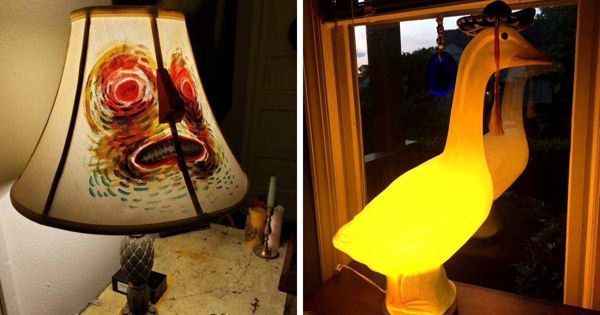 16 странных и диковинных ламп из секонд-хендов и барахолок, которые стали жемчужинами в интерьере