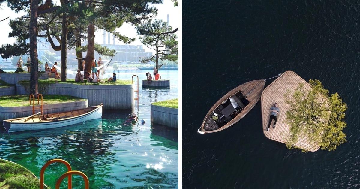 В гавани Копенгагена построят плавучие острова. И эта бесплатная зона отдыха — настоящий рай интроверта!
