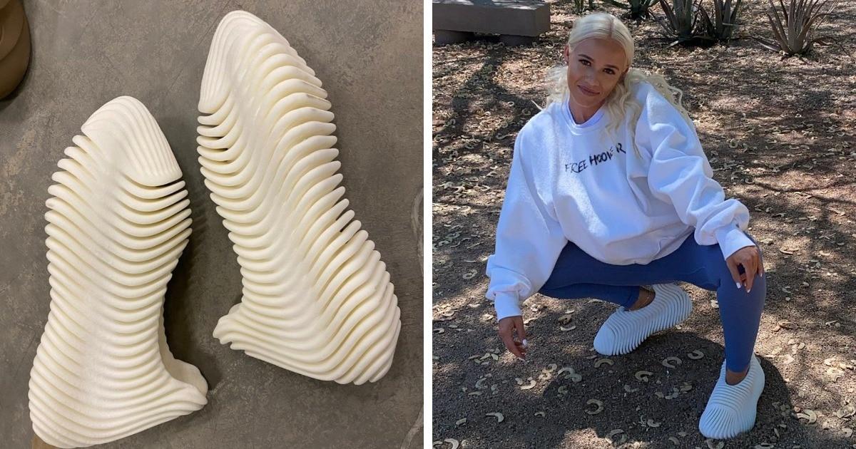 Скелет рыбы, макароны и зубная паста: Канье Уэст показал новую обувь, и её дизайн вызвал шутки, а не восторг