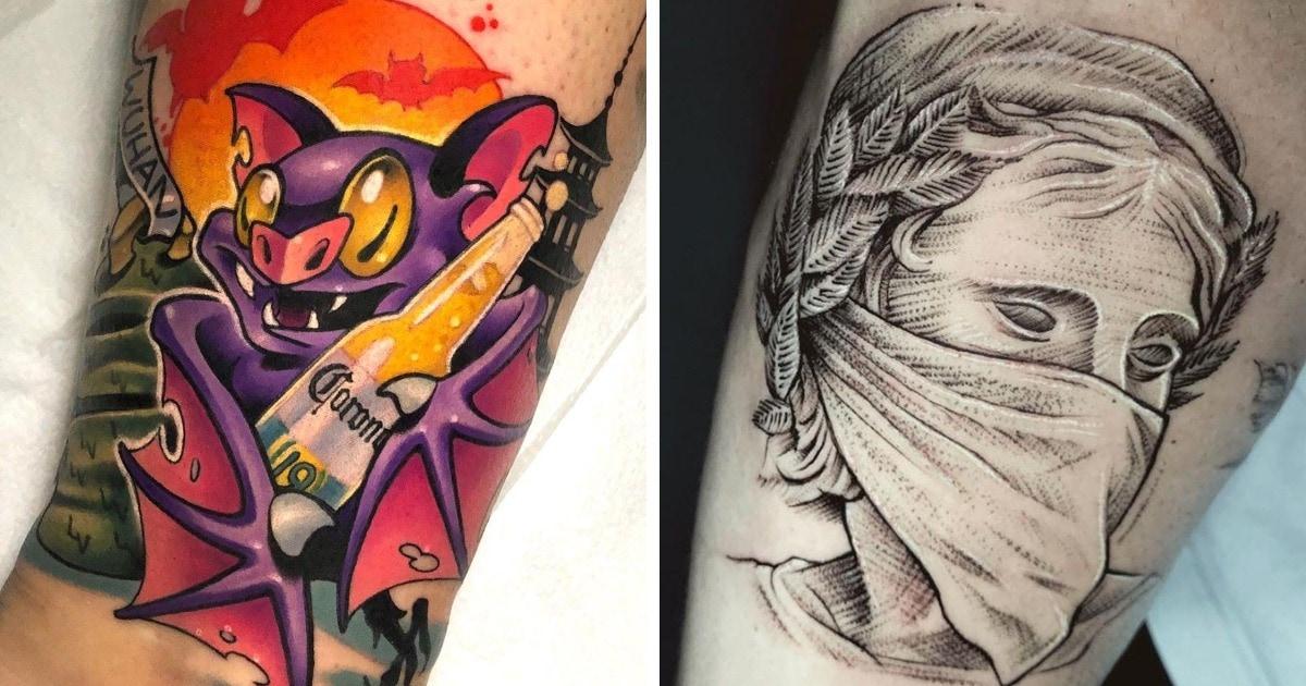 16 необычных татуировок, которые люди сделали в память о коронавирусе