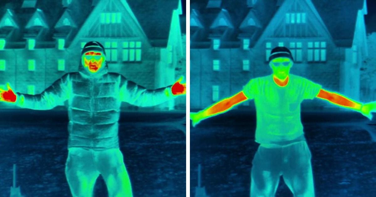 Красный — горячий, зелёный — холодный: опыт показал, как человек теряет тепло на морозе и что остывает первым