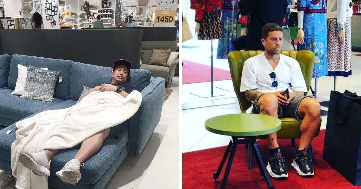20 фотографий мужчин, которых объединяет одно: мечта об окончании женского шопинга. Долгого и беспощадного