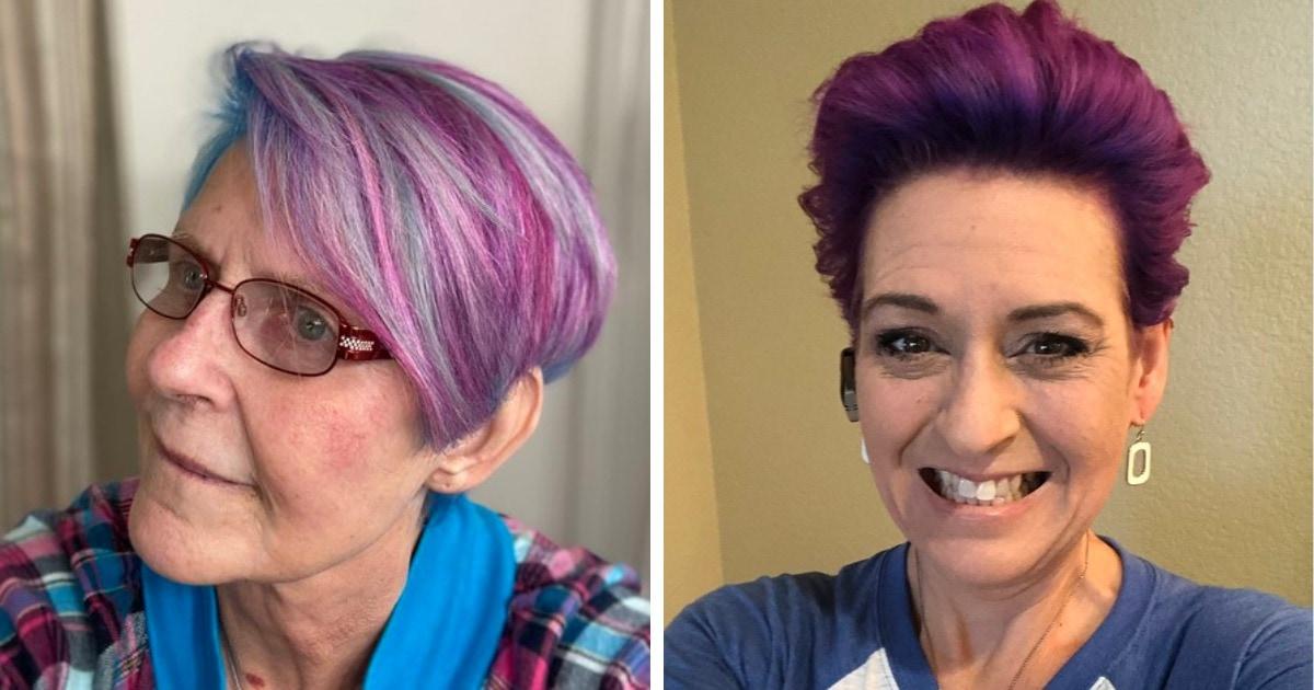 Женщины в возрасте показали свои яркие волосы, доказав, что не только подросткам идут эксперименты