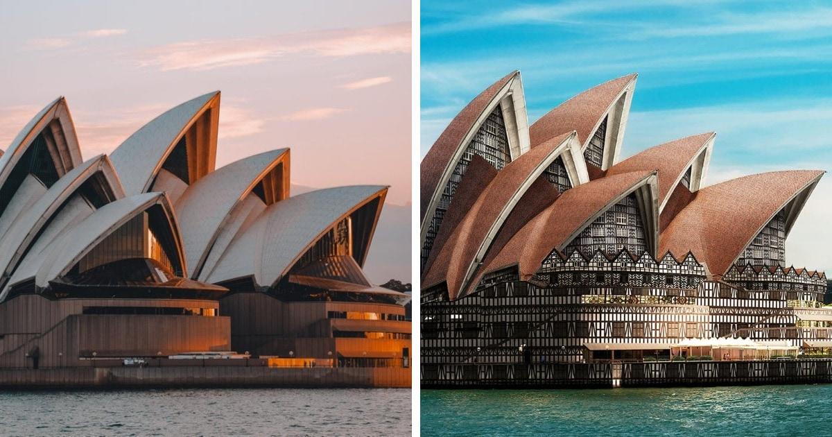 Как бы выглядели знаменитые сооружения, будь они построены в другом архитектурном стиле