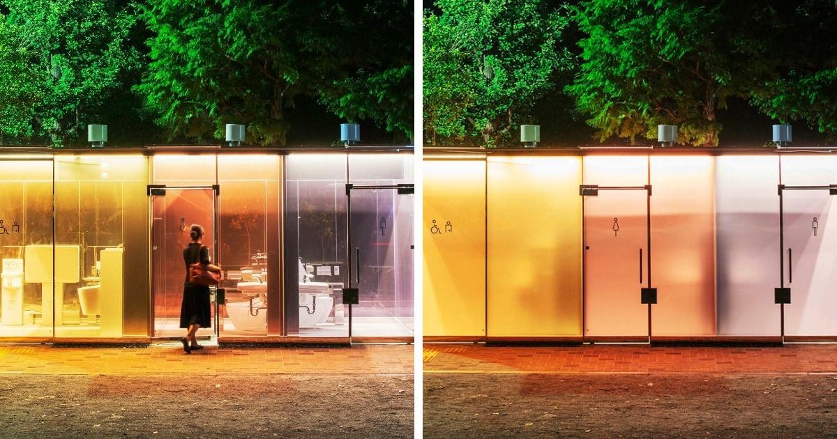 В Токио установили прозрачные туалеты с умным стеклом. Люди гордятся технологией, но боятся, что она даст сбой