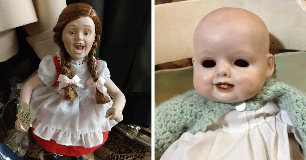 13 случаев, когда на барахолках и распродажах были замечены жуткие куклы, способные стать ночным кошмаром