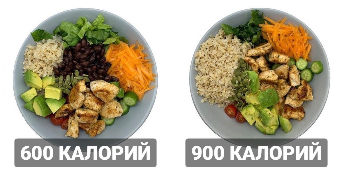 Диетолог показала два похожих блюда с разным количеством калорий и объяснила, в чём причина такого различия