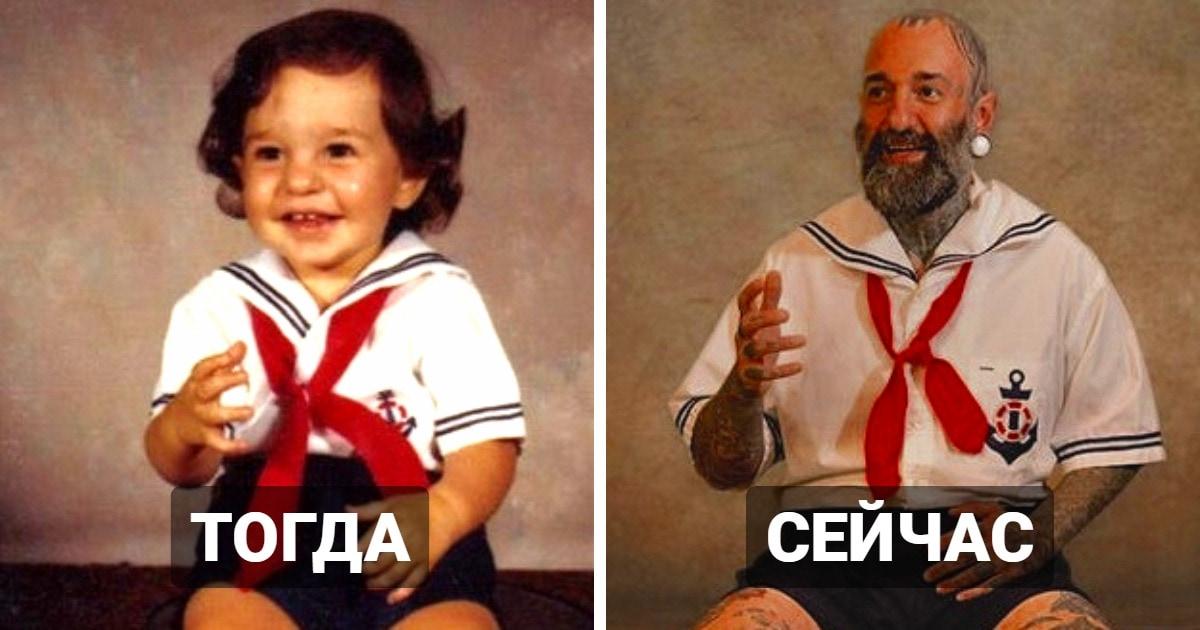 Люди детально воссоздали свои детские и юношеские снимки. И результат их работы достоин восхищения!